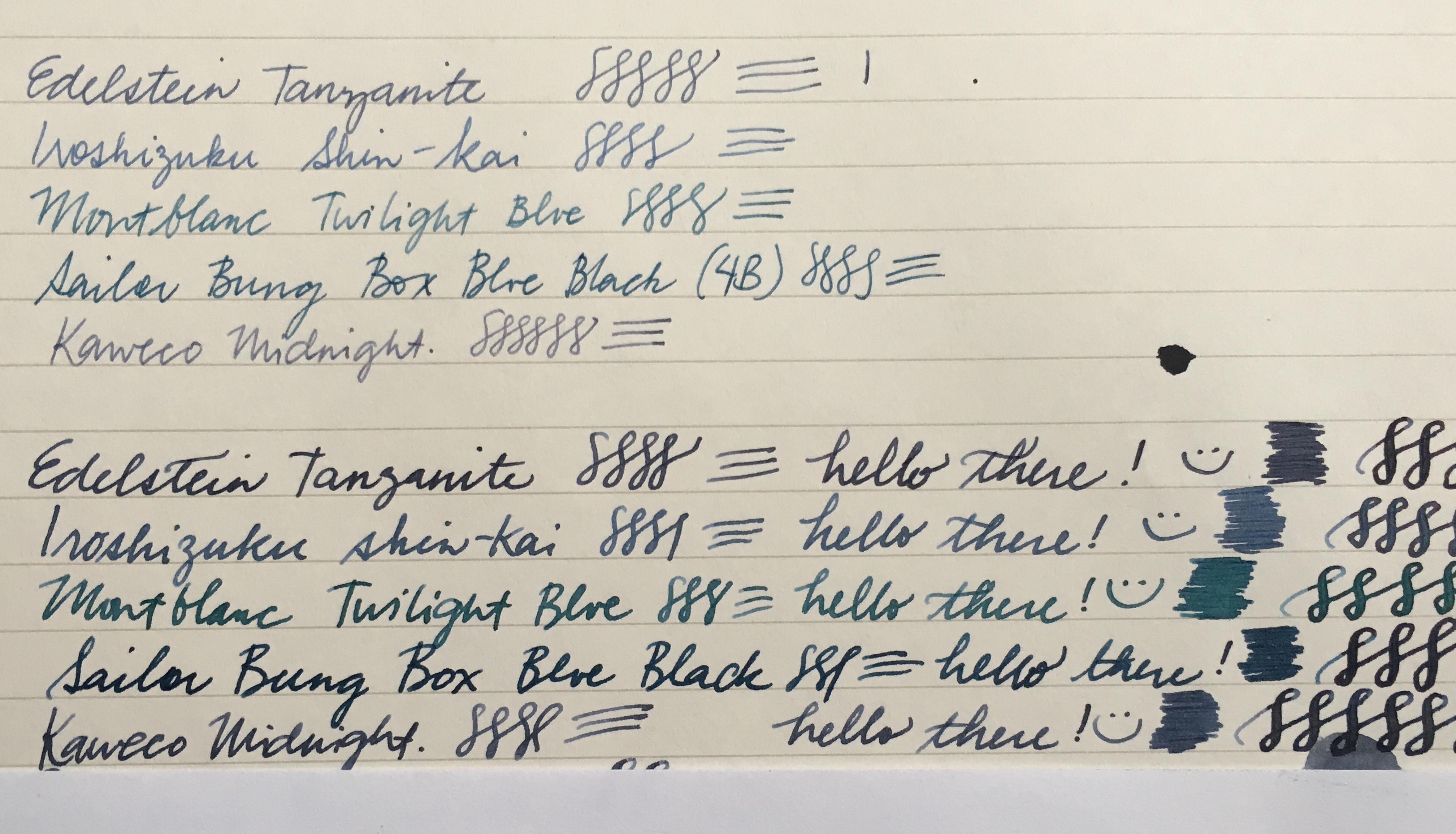 Diamine 1864 Blue Black: Ink Review